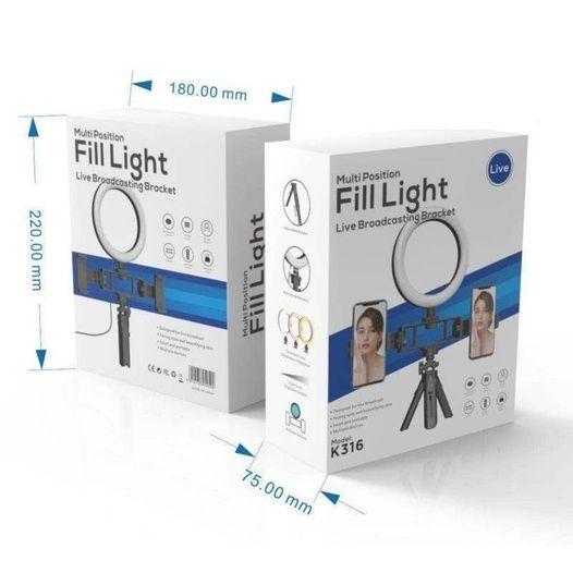 Selfie Ring Light with Tripod Stand - Ring Light Tripod