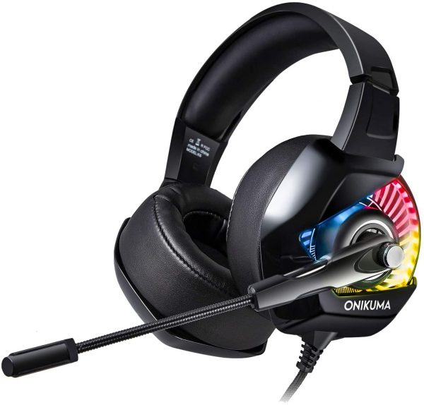 ONIKUMA K6 Noise Canceling Gaming Headset for PS4